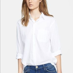 Current/Elliott The Prep School Shirt in White